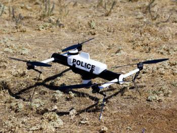 Drohne im Polizeieinsatz: AeroVironment Qube
