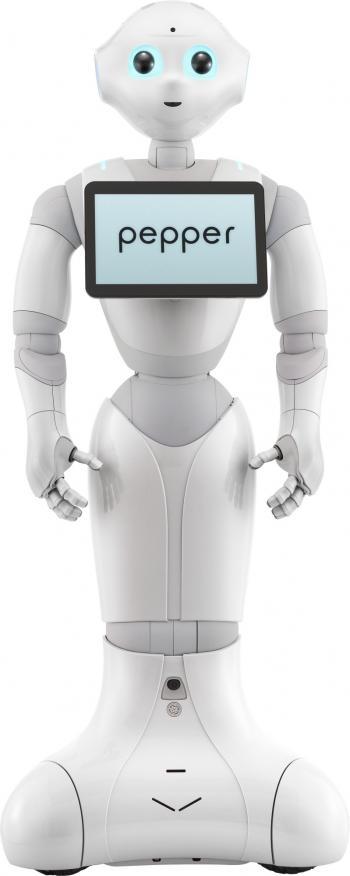 Der neue Service-Roboter Pepper soll u.a. in der Altenpflege und der Kinderbetreuung eingesetzt werden