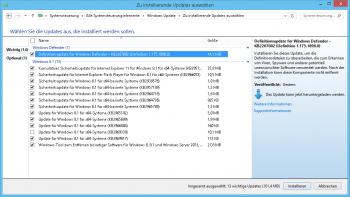 Die Updates werden erst nach der Installation des Windows 8.1 Update sichtbar.