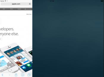 Apples Arbeit an einem Split-Screen-Modus ist in iOS 8 bereits zu sehen