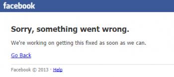 Kein Netzwerk: Statt der Nachrichten aus dem Freundeskreis liefert Facebook nur eine Fehlermeldung