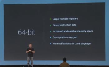 Die 64-Bit-Architektur erlaubt nicht nur größere Hauptspeicher, sondern kann durch eine größere Registerzahl und neue Maschinenbefehle Apps beschleunigen.