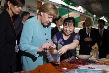 Angela Merkel besucht derzeit China.