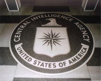 CIA-Logo im Boden der ehemaligen Zentrale