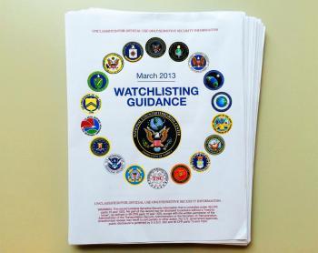 Die Titelseite zeigt, wie viele US-Behörden an dem Datenbanksystem beteiligt sind.