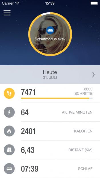 """Die Auswertung läuft über die kostenlose """"Me""""-App, die für iOS und Android erhältlich sein wird."""