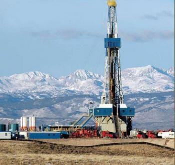 Schiefergasbohrturm im US-Bundesstaat Wyoming