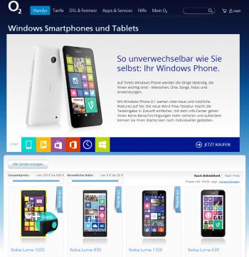 Windows Phones von O2 bleiben vorerst auf Version 8.
