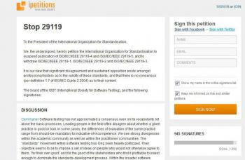 Auf derzeit knapp 1000 Unterzeichner kommt die Petition gegen den neuen ISO-Teststandard.
