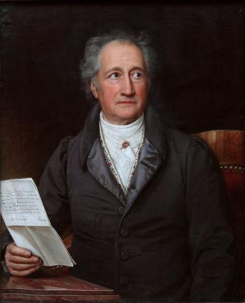 Johann Wolfgang von Goethe, Ölgemälde von Joseph Karl Stieler (1828)
