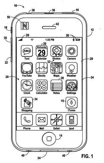 Bereits ein älterer Apple-Patentantrag dreht sich um ein iPhone mit NFC und Shopping-App.