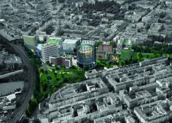 Luftbild des EUREF-Campus