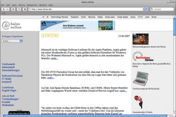 Apple Safari unter deutschsprachigem Windows
