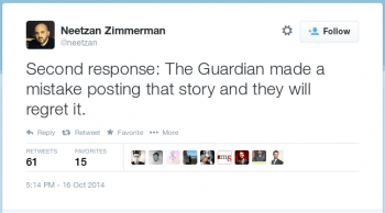 Zimmerman-Tweet