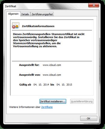 Das zur Überwachung genutzte, selbst signierte Zertifikat wurde am 4. Oktober dieses Jahres ausgestellt.