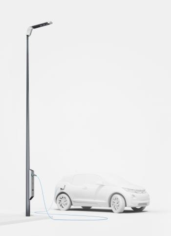 Prototyp für eine Straßenlaterne als Ladestation