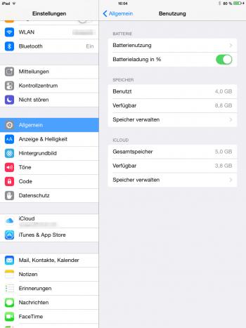 Nach der Installation von iOS 8.1.1 steht unter Umständen mehr Speicherplatz zur Verfügung
