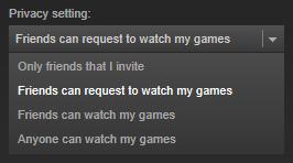 Die Privacy-Einstellungen geben Kontrolle darüber, wer sich Streams von den eigenen Spiele-Sessions anschauen darf.