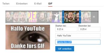 Ein YouTube-Channel von PBS enthält eine Funktion um Erstellen animierter GIFs.