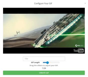 Der Web-Dienst gifyoutube.com kann das schon länger und bearbeitet beliebige YouTube-Videos.