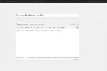 Ablenkungsfreier Modus in Wordpress