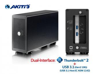 Akitio Thunderbolt2 Quad mit USB 3.1