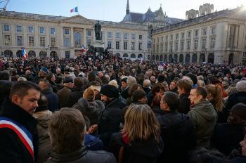Die Demonstration in Reims