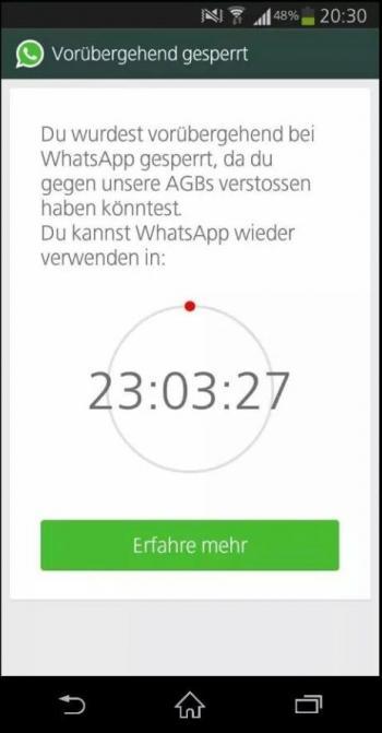 WhatsApp-Ban