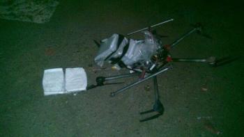 3 Kilo Crystal Meth waren wohl zuviel: die in Tijuana abgestürzte Drohne.