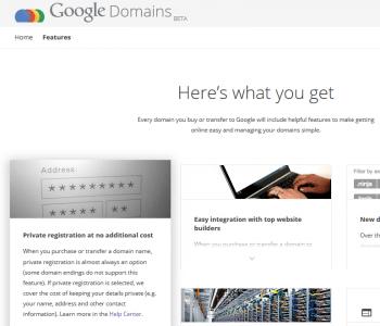 Google ist seit kurzem auch Registrar – und wirbt mit Privatsphäre.