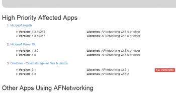 Laut SourceDNA war unter anderem die OneDrive-App von Microsoft betroffen.