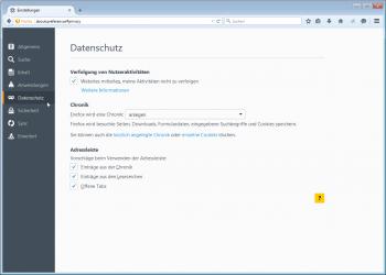 Die Firefox-Einstellungen sind nun in einem Tab untergebracht.