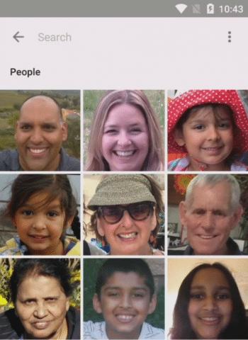 Die Photos-App erkennt Gesichter und gruppiert alle Bilder einer Person.