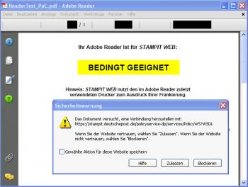 PDF-Warnung