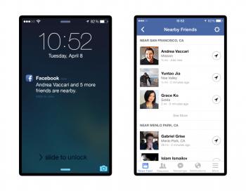 """Über """"Nearby Friends"""" können Facebook-Mitglieder sehen, ob sich Freunde in der Nähe aufhalten."""