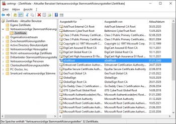 """Das fragwürdige Zertifikat ist auf neueren Dell-Rechnern als """"Vertrauenswürdige Stammzertifizierungsstelle"""" hinterlegt."""