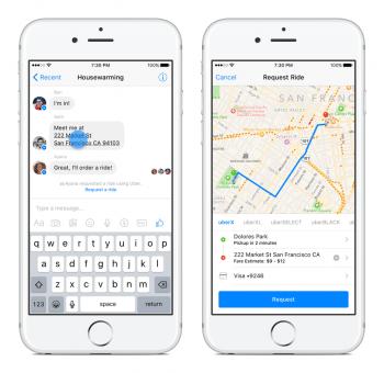 Mitfahrgelegenheit per Chat: Messenger-Nutzer können in den USA bequem Uber-Fahrten buchen.