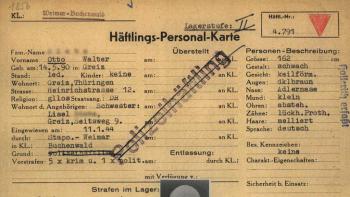 ITS Häftlingspersonalkarte Beispiel