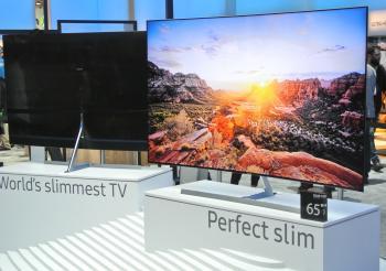 Die sehr dünnen Fernseher von Samsung nutzen Tizen als Betriebssystem.