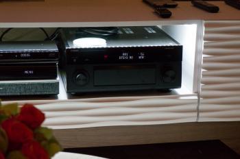 Für die DTS:X-Demonstration wurde ein AV-Vorverstärker von Yamaha mit Beta-Firmware benutzt.
