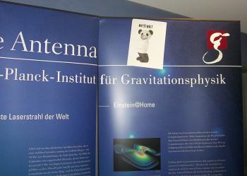 Der Heisig bei der Internationalen Gravitationswellenkonferenz 2006