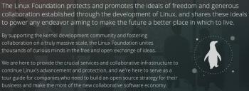 Die Linux Foundation fördert dieser Tage mehr als nur Linux.