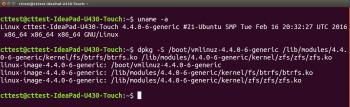 Das ZFS-Modul steckt jetzt im selben Paket wie der Kernel und seine Module.
