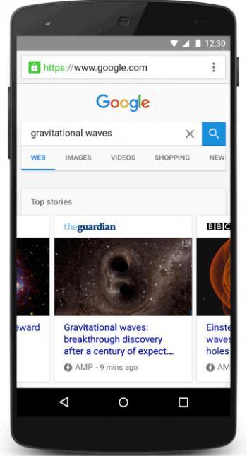 Google belohnt AMP-Websites in der Suche