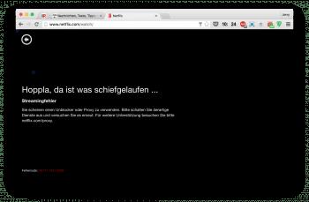 Wer bislang VPN-Verbindungen oder Proxys nutzte, um auf das US-Angebot von Netflix zuzugreifen, bekommt seit gestern auch in Deutschland statt des erwarteten Streams nur noch diese Meldung zu sehen.