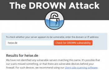 Der Drown-Test verrät, ob ein Server während des Scans der Forscher anfällig war.