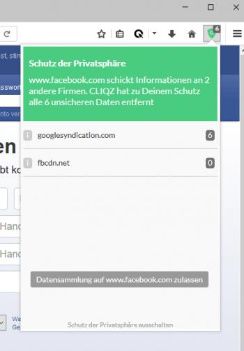 Eine eingebaute Anti-Tracking-Funktion schützt die Privatsphäre der Nutzer.
