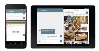 Auf Tablets und Smartphones können (dafür vorbereitete) Apps nebeneinander laufen, auf Fernsehern zusätzlich Picture-in-Picture.