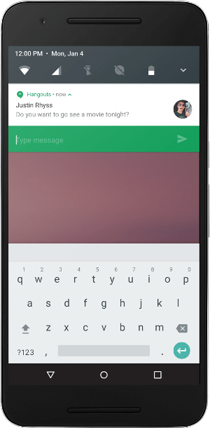 Android N zeigt Apps nebeneinander an