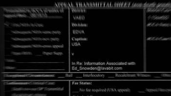 Ungeschwärzt: eine von drei Mail-Adressen Snowdens bei Lavabit